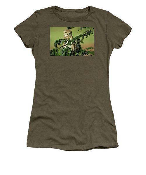 Wise Watcher Women's T-Shirt (Junior Cut) by Sue Cullumber