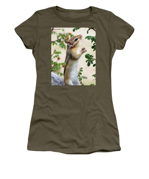Within Reach - Chipmunk Women's T-Shirt (Junior Cut) by MTBobbins Photography