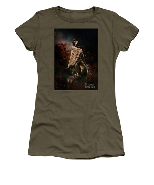 Wolf Song Women's T-Shirt (Junior Cut) by Shanina Conway