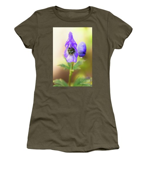 Women's T-Shirt featuring the photograph Wolf's Bane Flower Plant by Nick Biemans