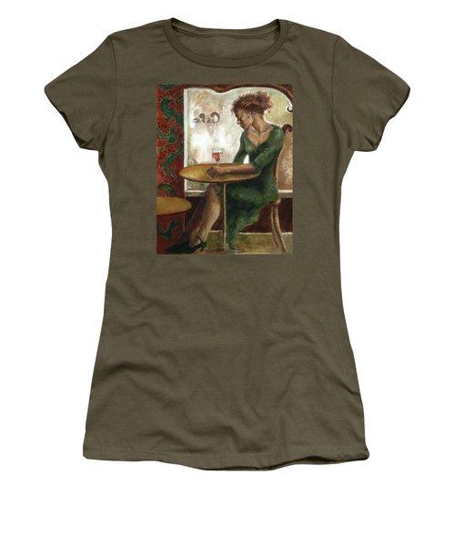 Woman In A Paris Cafe Women's T-Shirt