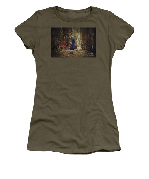 Woman With Suitcase  Women's T-Shirt