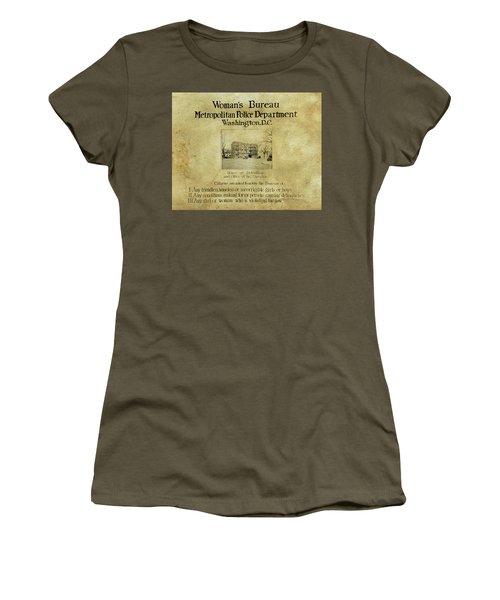 Women's Bureau House Of Detention Poster 1921 Women's T-Shirt