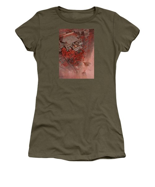Women's T-Shirt (Junior Cut) featuring the digital art Wonders Liyomizu by Te Hu