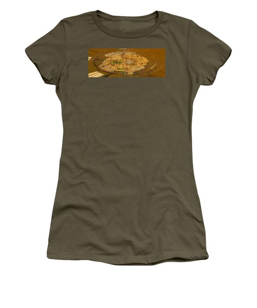 Women's T-Shirt (Junior Cut) featuring the photograph Wood Abstracted by Lenore Senior