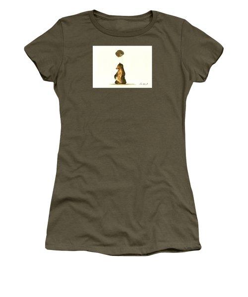 Woodland Letter I Women's T-Shirt (Junior Cut) by Juan  Bosco