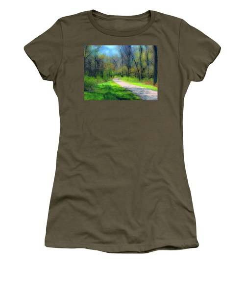 Woodland Trail Women's T-Shirt (Athletic Fit)