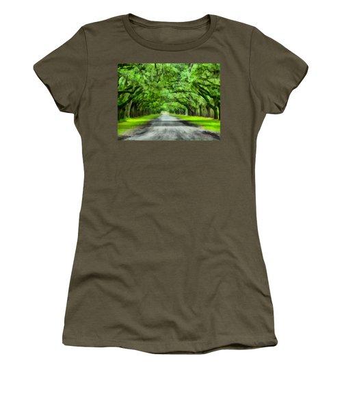 Wormsloe Plantation Women's T-Shirt (Junior Cut) by Lynne Jenkins