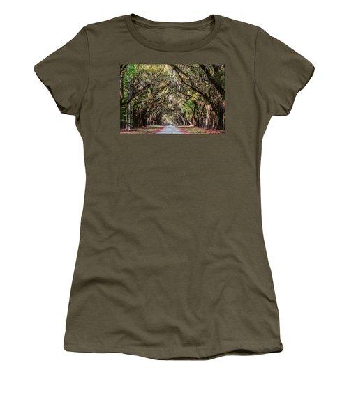 Wormsloe Plantation Oaks Women's T-Shirt