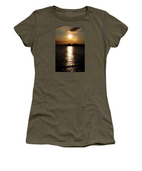 Worthing Sunset Women's T-Shirt (Athletic Fit)