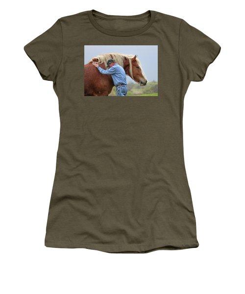 Wrangler Jeans And Belgian Horse Women's T-Shirt