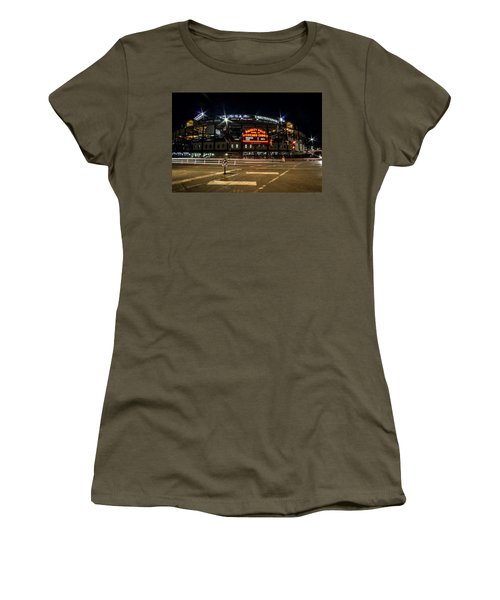 Wrigley Field Marquee At Night Women's T-Shirt