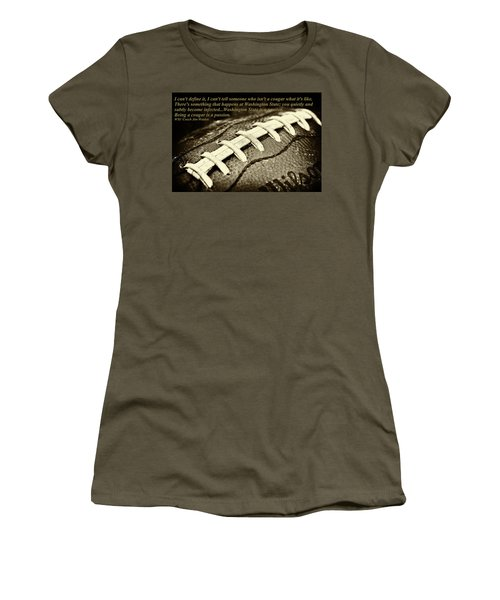 Wsu Cougar Quote Women's T-Shirt (Junior Cut) by David Patterson
