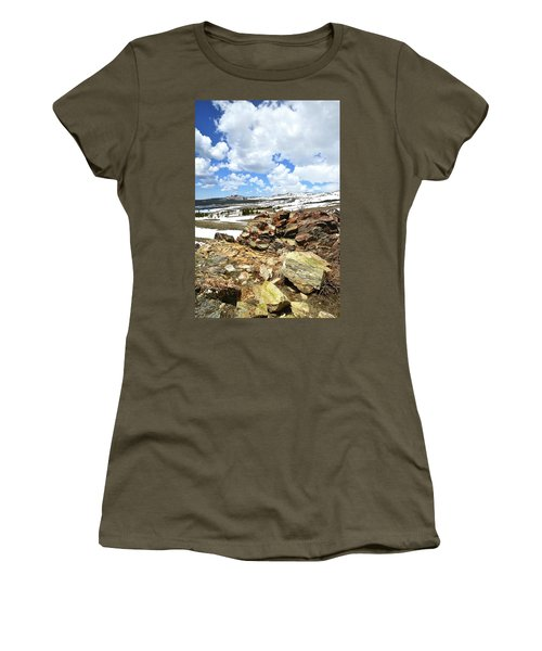 Wyoming's Big Horn Pass Women's T-Shirt (Athletic Fit)