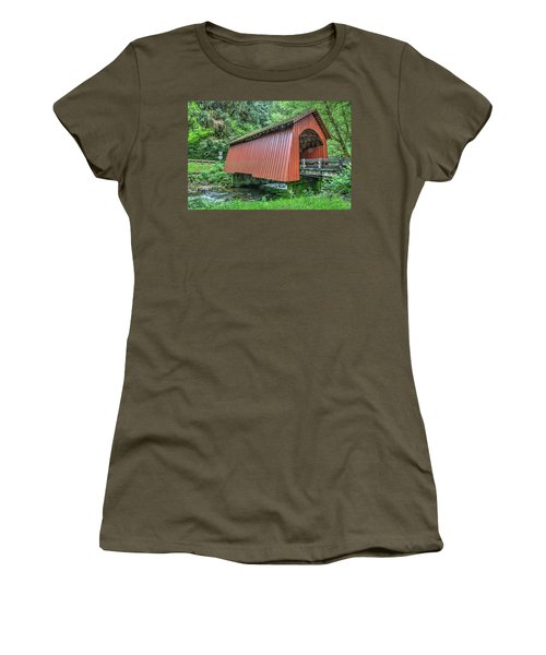 Yachats Covered Bridge Women's T-Shirt