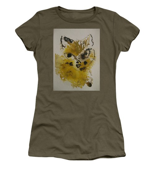 Yellow And Brown Cat Women's T-Shirt (Athletic Fit)