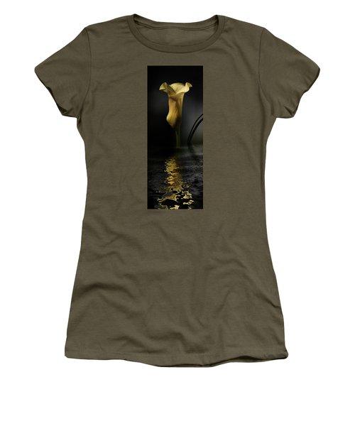 Yellow And Gray Women's T-Shirt