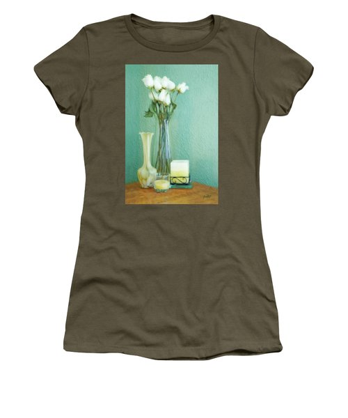 Yellow And Green Women's T-Shirt (Athletic Fit)