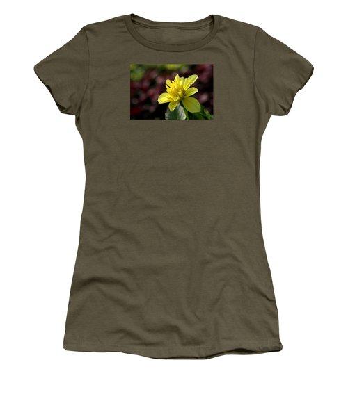 Yellow Bloom Women's T-Shirt (Junior Cut) by Robert Och