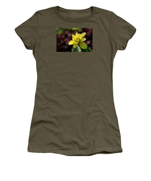 Yellow Bloom Women's T-Shirt (Athletic Fit)
