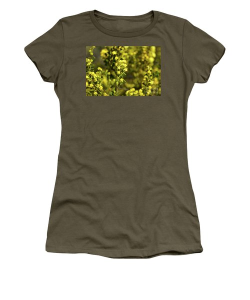 Yellow Blooms Women's T-Shirt (Athletic Fit)