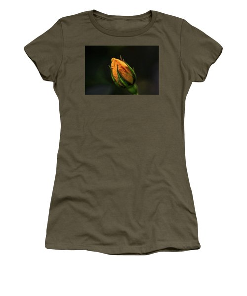 Yellow Bud Women's T-Shirt (Athletic Fit)