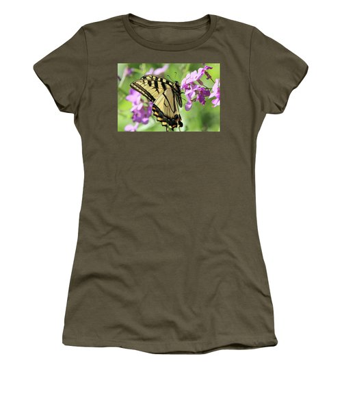 Yellow Butterfly Women's T-Shirt (Junior Cut) by David Stasiak