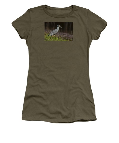 Yellow-crowned Night Heron Women's T-Shirt (Athletic Fit)