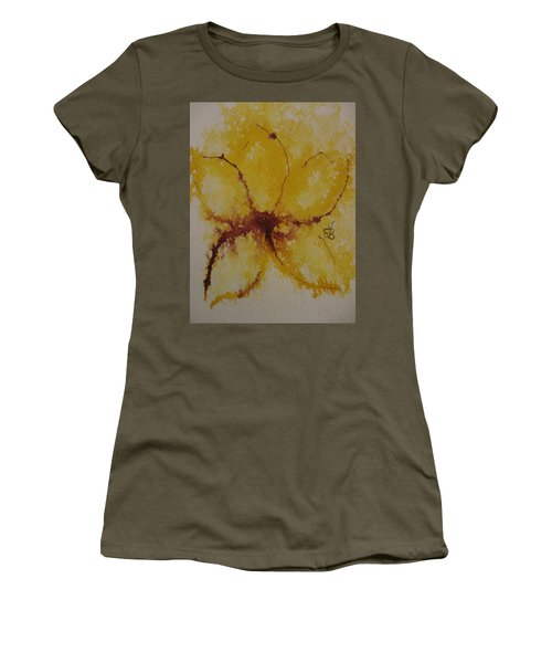 Yellow Flower Women's T-Shirt (Junior Cut) by AJ Brown