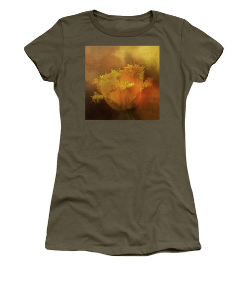 Women's T-Shirt featuring the digital art Yellow Flower by Richard Ricci