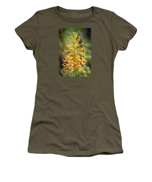 Women's T-Shirt (Junior Cut) featuring the photograph Yellow Fringed Orchid by Bob Decker