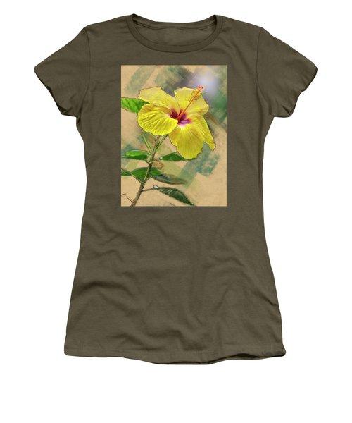 Yellow Hibiscus Women's T-Shirt