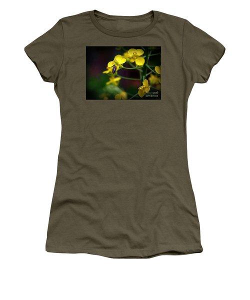 Yellow Lightning Women's T-Shirt (Junior Cut) by Lisa L Silva