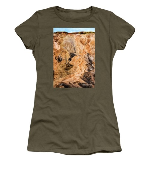 Women's T-Shirt featuring the photograph Yellow Stone National Park Abstract by Mae Wertz