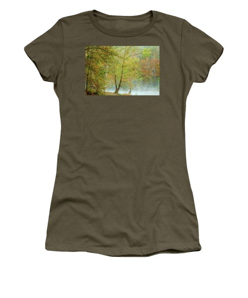 Women's T-Shirt (Junior Cut) featuring the photograph Yellow Trees by Iris Greenwell