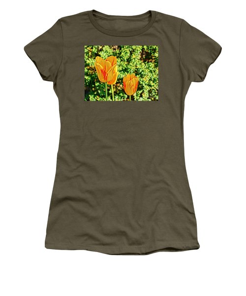 Yellow Tulip  Women's T-Shirt (Athletic Fit)