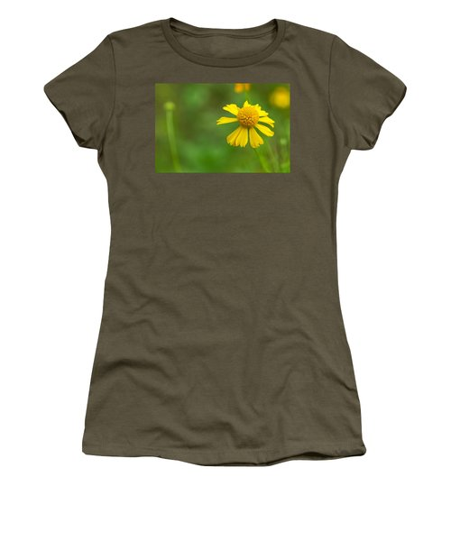 Yellow Wildflower Women's T-Shirt (Junior Cut) by Christopher L Thomley