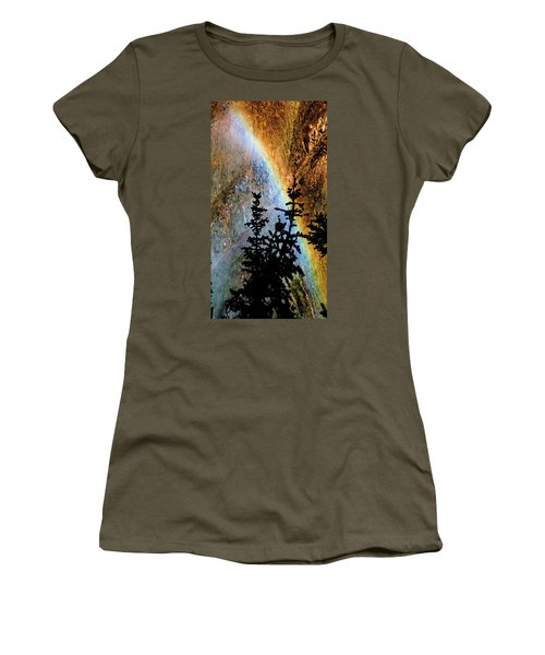 Women's T-Shirt (Athletic Fit) featuring the photograph Yellowstone Rainbow by Norman Hall