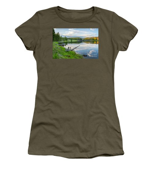 Yellowstone River Off Grand Loop Women's T-Shirt (Athletic Fit)