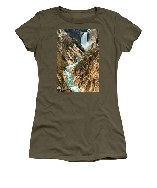 Yellowstone Waterfalls Women's T-Shirt