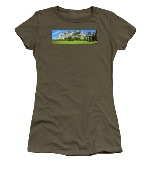 Yosemite West Valley Meadow Panorama #2 Women's T-Shirt