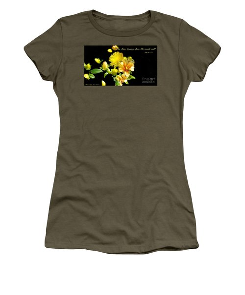 Women's T-Shirt (Junior Cut) featuring the photograph You Have To Grow by Gena Weiser