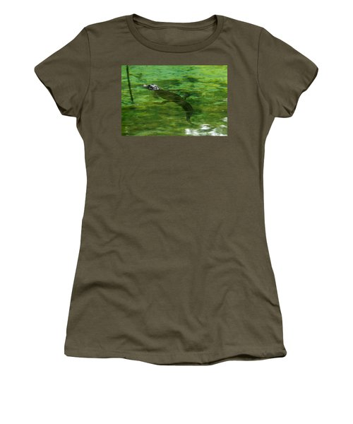 Young Alligator Women's T-Shirt (Athletic Fit)