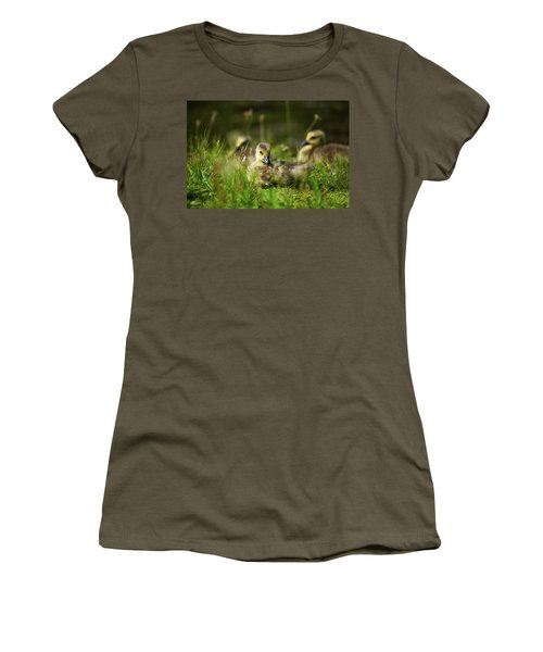 Women's T-Shirt (Junior Cut) featuring the photograph Young And Adorable by Karol Livote