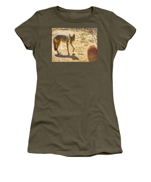 Young Coyote And Cactus Women's T-Shirt