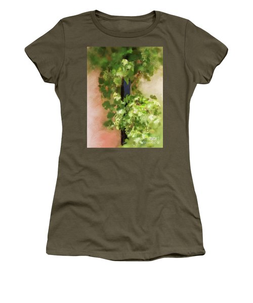Women's T-Shirt (Athletic Fit) featuring the digital art Young Greek Wine by Lois Bryan
