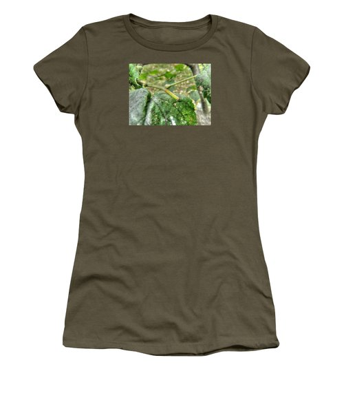 Women's T-Shirt (Junior Cut) featuring the pyrography Yury Bashkin Greeeenn by Yury Bashkin