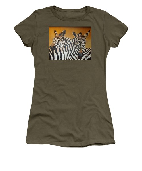 Zebra Love Women's T-Shirt (Athletic Fit)