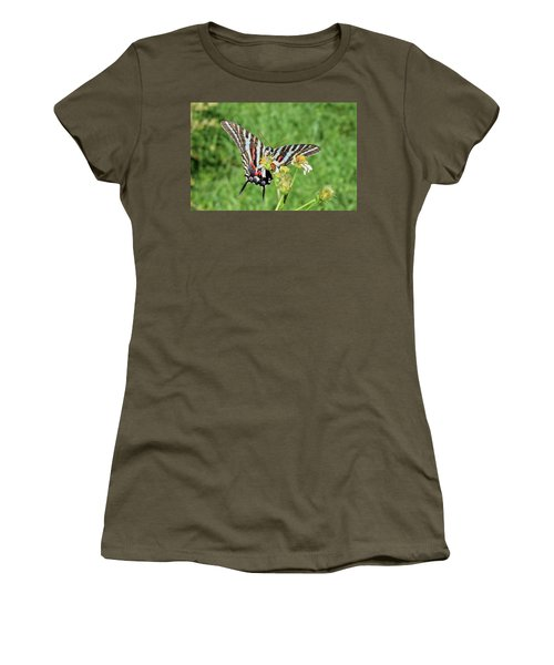 Zebra Swallowtail And Ladybug Women's T-Shirt