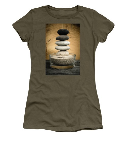 Zen Stones I Women's T-Shirt (Athletic Fit)